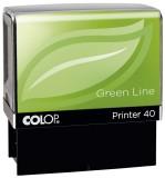 COLOP® Printer 40 Green Line - max . 6 Zeilen, 23 x 59 mm mit Gutschein Textstempel Selbstfärber