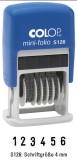 COLOP® Mini-Dater - 4 mm Ziffernstempel, 6 Bänder Ziffernbandstempel Selbstfärber 6-stellig 4 mm