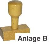 Vorgangsstempel - Anlage B Textstempel für Stempelkissen Anlage B Holz