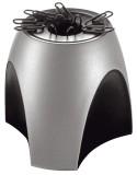 HAN Klammernspender DELTA Silber Edition, silber Klammernspender silber/schwarz 95 mm 88 mm