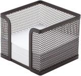 Q-Connect® Zettelbox Metalldraht - schwarz Zettelbox schwarz 98 x 80 x 98 mm