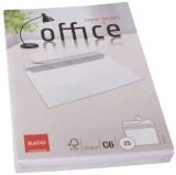 Elco Briefumschlag Office - C6, hochweiß, haftklebung, Idr, 80 g/qm, 25 Stück C6 weiß haftklebend