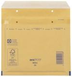 aroFOL® Luftpolstertaschen CD, 180x165 mm, goldgelb/braun, 100 Stück Luftpolstertasche braun CD