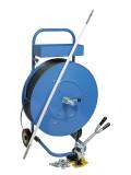 Wihedü Abrollgerät FG 04 für Umreifungsband Abrollgerät für Großrollen Umreifungsband blau