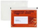 docuFIX® Begleitpapiertaschen mit Aufdruck Lieferschein - Rechnung, C6, 250 Stück C6 rot