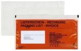 docuFIX® Begleitpapiertaschen mit Aufdruck Lieferschein - Rechnung, DL, 250 Stück DL rot