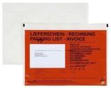 docuFIX® Begleitpapiertaschen mit Aufdruck Lieferschein - Rechnung, C5, 250 Stück C5 rot
