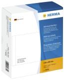 Herma 4331 Adress-Etiketten - einzeln mit Abziehlasche, 130 x 80 mm, selbstklebend, 500 Stück weiß