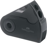 Faber-Castell Doppelspitzdose SLEEVE - schwarz für Blei- und Farbstifte in Standard oder Jumbo