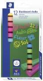 Staedtler® Wandtafelkreide 2360, farbig sortiert, Etui mit 12 Stück Kreide 13 mm 90 mm