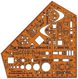 Standardgraph Schulwinkel, Elektro Schablone Elektro