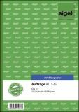 SIGEL Aufträge - A5, BL, MP, 2 x 50 Blatt Auftragsbuch A5 BL = Blaupapier, MP = Microperforation
