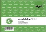 SIGEL Ausgabebelege - A6 quer, Papier rosa, mit Sicherheitsdruck, 50 Blatt A6 quer 50 Blatt