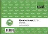 SIGEL Einnahmebelege - A6 quer, Papier grün, mit Sicherheitsdruck, 50 Blatt A6 quer grün 50 Blatt