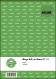 SIGEL Gesprächsnotizen - A5, 50 Blatt Gesprächsnotiz A5 weiß, Deckelumklappbar 50 Blatt