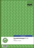 SIGEL Kassenabrechnungen - A4, 1. und 2. Blatt bedruckt, 2 x 50 Blatt Kassenberichtsbuch A4