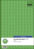 SIGEL Kassenabrechnungen - A4, einfaches Satzbild, 1. und 2. Blatt bedruckt, 2 x 50 Blatt A4