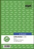 SIGEL Lieferscheine mit Empfangsschein - A5, 1. und 2. Blatt bedruckt, 2 x 50 Blatt Lieferscheinbuch