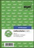 SIGEL Lieferscheine mit Empfangsschein - A6, 1. und 2. Blatt bedruckt, 2 x 50 Blatt Lieferscheinbuch