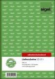 SIGEL Lieferscheine mit Empfangsschein - A5, 1. und 2. Blatt bedruckt, SD, MP, 2 x 40 Blatt A5