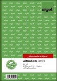 SIGEL Lieferscheine mit Empfangsschein - A5, 1., 2. und 3. Blatt bedruckt, SD, MP, 3 x 40 Blatt A5