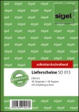 SIGEL Lieferscheine mit Empfangsschein - A6, 1. und 2. Blatt bedruckt, SD, MP, 2 x 40 Blatt A6