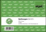 SIGEL Quittungen mit Sicherheitsdruck - A6 quer, MP, 50 Blatt Quittung DIN A6 quer 50 Blatt