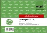 SIGEL Quittungen mit Sicherheitsdruck - A6 quer, 1. und 2. Blatt bedruckt, SD, MP, 3 x 40 Blatt