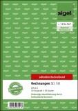 SIGEL Rechnungen mit fortlfd. Nummerierung - A5, 1. u. 2. Blatt bedruckt, SD, MP, 2 x 50 Blatt A5