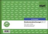 SIGEL Reisekostenabrechnungen wöchentlich - A5 quer, BL, MP, 50 Blatt Reisekostenabrechnung A5 quer