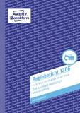 Avery Zweckform® 1306 Regiebericht, DIN A5, vorgelocht, 2 x 50 Blatt, weiß, gelb Bauberichte