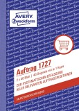 Avery Zweckform® 1727 Auftrag, DIN A6, selbstdurchschreibend, 2 x 40 Blatt, weiß, gelb weiß,gelb