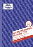 Avery Zweckform® 1739 Auftrag/Lieferschein/Rechnung, DIN A5, selbstdurchschreibend, 2 x 40 Blatt, weiß, gelb