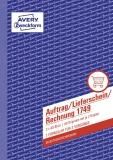 Avery Zweckform® 1749 Auftrag/Lieferschein/Rechnung, DIN A5, selbstdurchschreibend, 3 x 40 Blatt, weiß, gelb, rosa