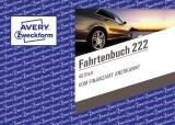 Avery Zweckform® 222 Fahrtenbuch - A6 quer, steuerlicher km-Nachweis, 40 Blatt, weiß Fahrtenbuch