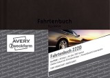 Avery Zweckform® 222D Fahrtenbuch - A6, steuerlicher km-Nachweis, 48 Blatt, weiß Fahrtenbuch