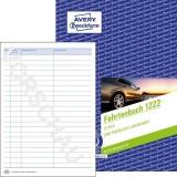 Avery Zweckform® 1222 Fahrtenbuch - A5, steuerlicher km-Nachweis, 32 Blatt, weiß Fahrtenbuch