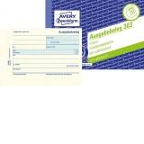 Avery Zweckform® 303 Ausgabebeleg mit Dokumentendruck, DIN A6 quer, fälschungssicher, 50 Blatt, gelb