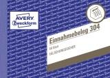 Avery Zweckform® 304 Einnahmebeleg, DIN A6 quer, fälschungssicher, 50 Blatt, grün Einnahmebeleg