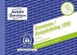Avery Zweckform® 1205 Einnahme-/Ausgabebeleg, DIN A6 quer, fälschungssicher, 50 Blatt, weiß weiß
