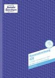 Avery Zweckform® 428 Kassenabrechnung, DIN A4, mit MwSt.-Spalte, 2 x 50 Blatt, weiß, gelb DIN A4