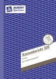 Avery Zweckform® 305 Kassenbericht, DIN A5, vorgelocht, 50 Blatt, weiß Kassenbuch weiß 50 Blatt