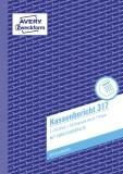 Avery Zweckform® 317 Kassenbericht, DIN A5, vorgelocht, 2 x 50 Blatt, weiß, gelb Kassenbuch DIN A5