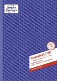 Avery Zweckform® 1756 Kassenbuch, DIN A4, nach Steuerschiene 300, 2 x 40 Blatt, weiß, gelb DIN A4