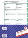 Avery Zweckform® 2887 Mahnbescheid, DIN A4, selbstdurchschreibend, 1 Satz, grün Mahnbescheid grün