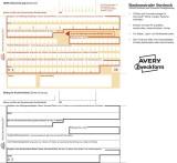 Avery Zweckform® 2817 Sepa-Überweisung - A4, inkl. Software-CD, 100 Blatt PC-Formular A4 100