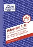 Avery Zweckform® 1722 Lieferschein, DIN A6, selbstdurchschreibend, 2 x 40 Blatt, weiß, gelb DIN A6