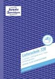 Avery Zweckform® 726 Lieferscheine mit Empfangsschein, DIN A5, mit Empfangsschein, 2 x 50 Blatt, weiß, rosa