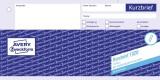 Avery Zweckform® 1020 Kurzbrief, DIN A4 (1/3), vorgelocht, 100 Blatt, weiß Kurzbrief weiß
