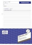 Avery Zweckform® 1019 Telefonnotiz, DIN A5, vorgelocht, 50 Blatt, weiß Gesprächsnotiz weiß